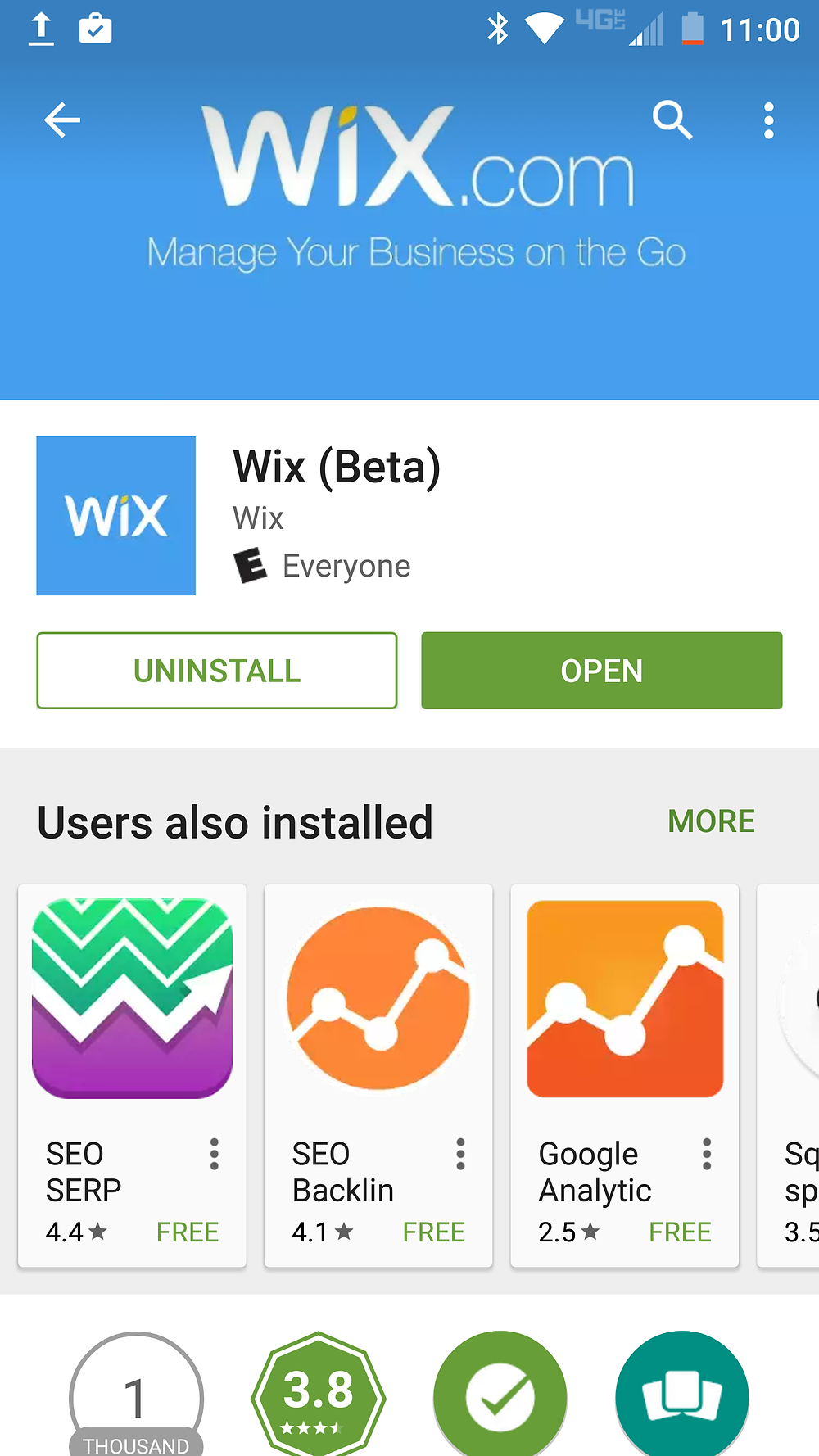 Wix Mobile App for Phones