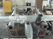 Mounting the re-manufactured wing to the fuselage section