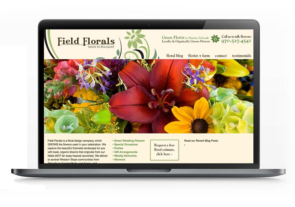 Flower Farm Website Designer for Field Florals