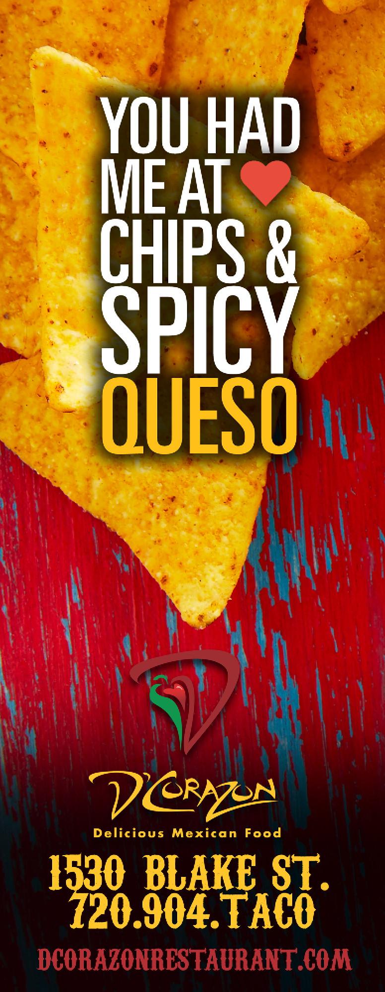 Denver Graphic Designer: Restaurant Ads for Westword - D'Corazon Advertisement Designer
