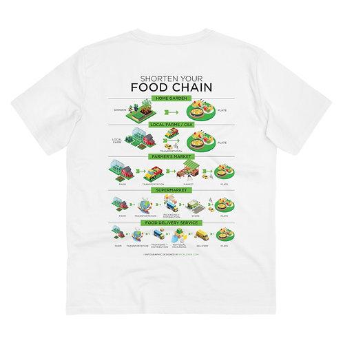 Shorten Your Food Chain - Organic Creator T-shirt - Unisex