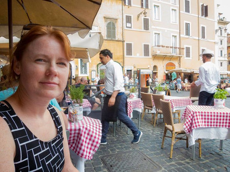 Taking a break having a spritzer at Piaz