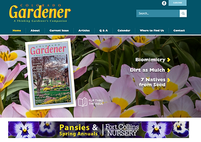 Colorado Gardener Magazine Website Designer