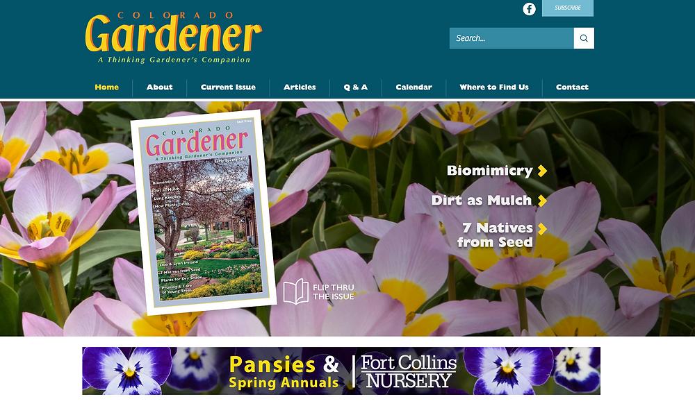 Gardening Magazine Website Designer
