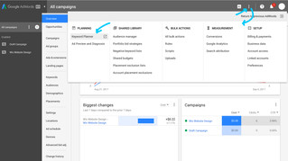 Google AdWords - Where to find Keyword Planner Tool