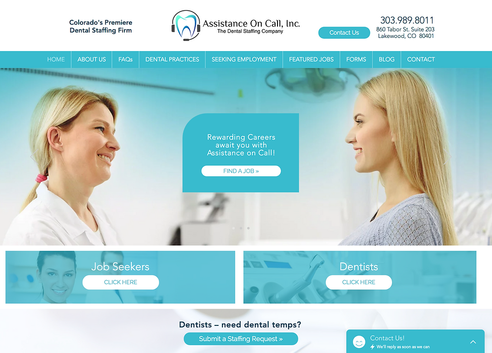 Website Design Template for Dentists
