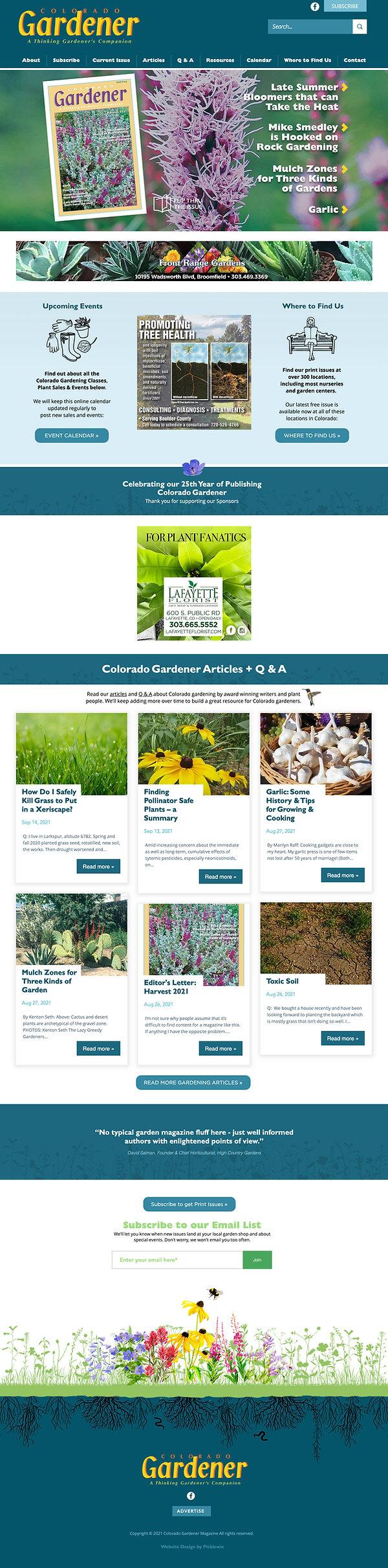 Best Wix Websites - Colorado Gardener Magazine Design