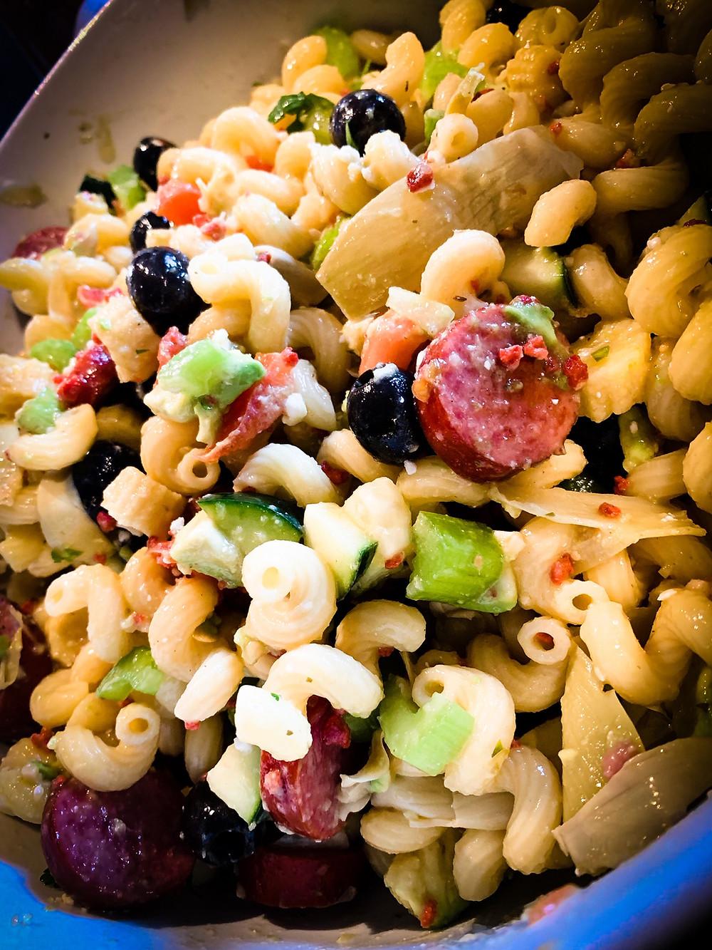 Tomatillo Hot Sauce Pasta Salad Recipe