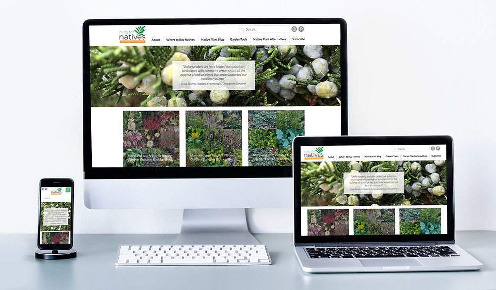 Is Wix Better than Wordpress? Wix Website Example of a Native Plant Blog, nutsfornatives.com