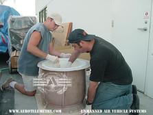 Applying gel coat to an Aero Telemetry cowl mold