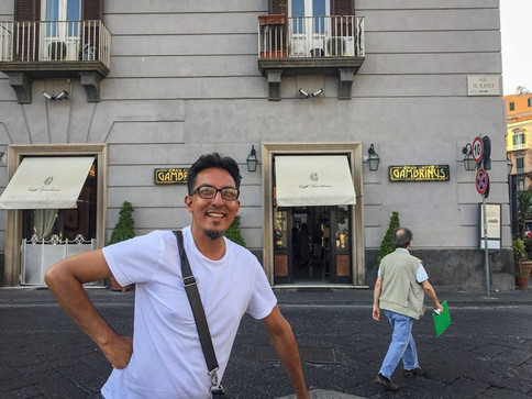 Gran Caffè Gambrinus. Famous coffeehouse
