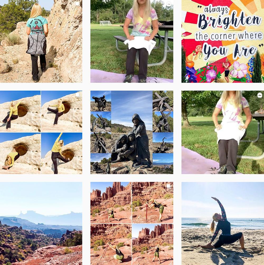 Outdoor Yoga - doing yoga outdoors on Instagram