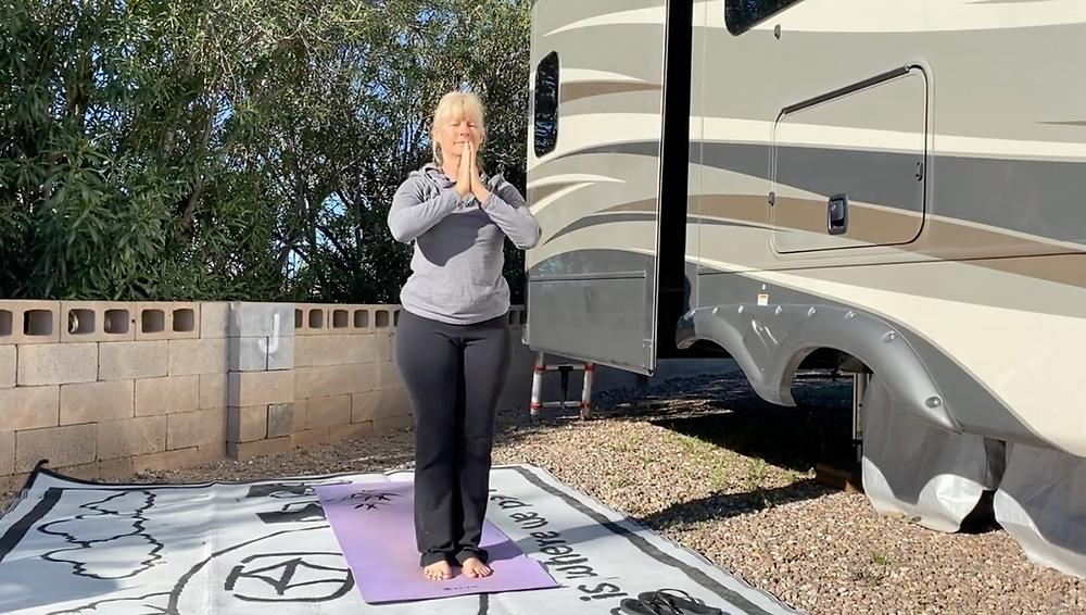 Morning Yoga Routine: RV Yoga - practice Outdoor Yoga