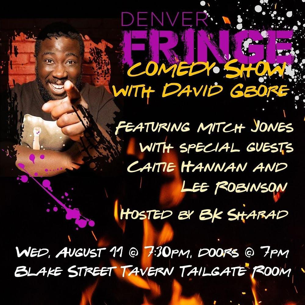 Denver Comedy Show at Blake Street Tavern on Aug 11 2021