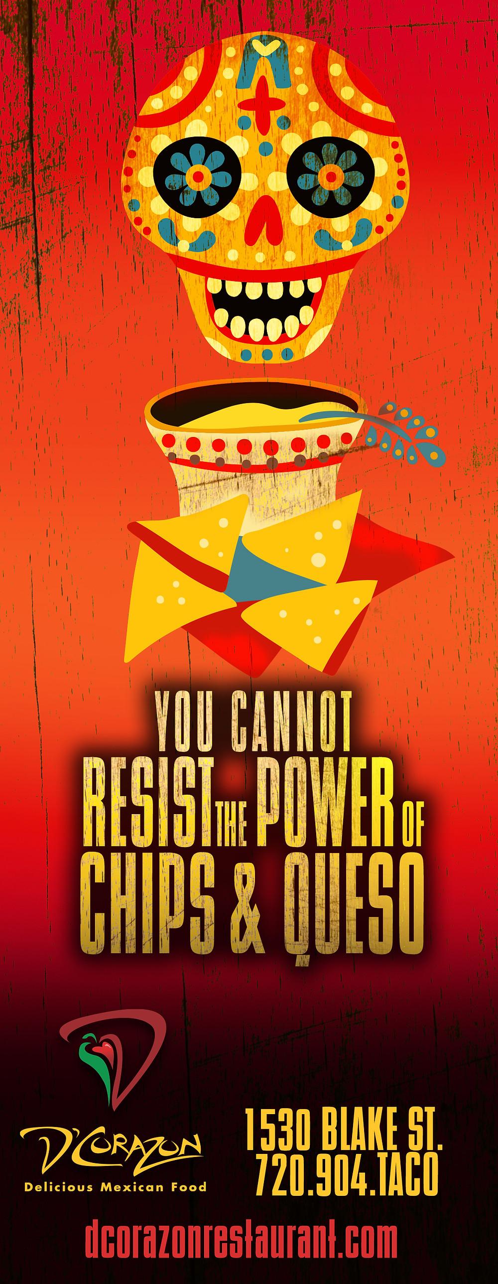 Denver Graphic Designer: Restaurant Ads for Westword - D'Corazon Mexican Restaurant Ad