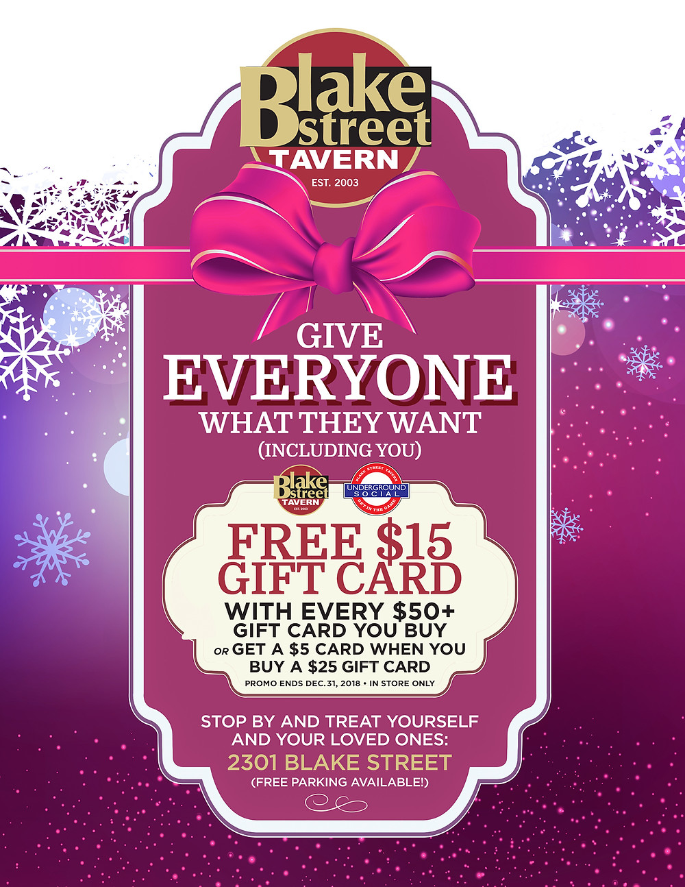 Denver Restaurant Deal on Gift Cards