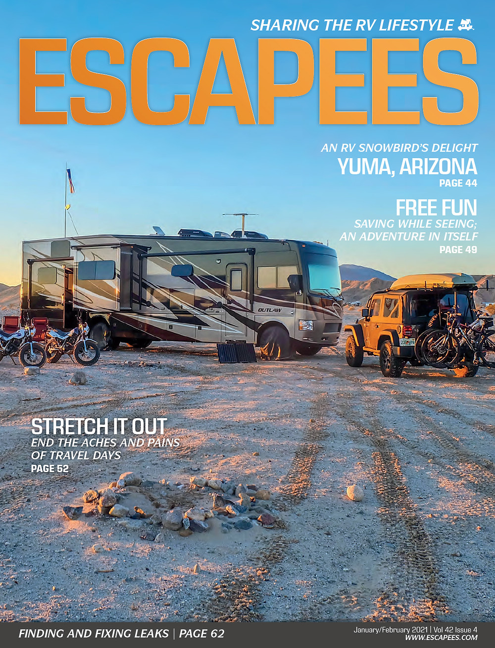 RV Yoga: Escapees RV Club Magazine Stretch It Out Article by Therese Julo