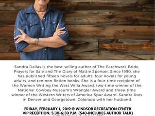 Sandra Dallas Author Talk at Windsor Recreation Center