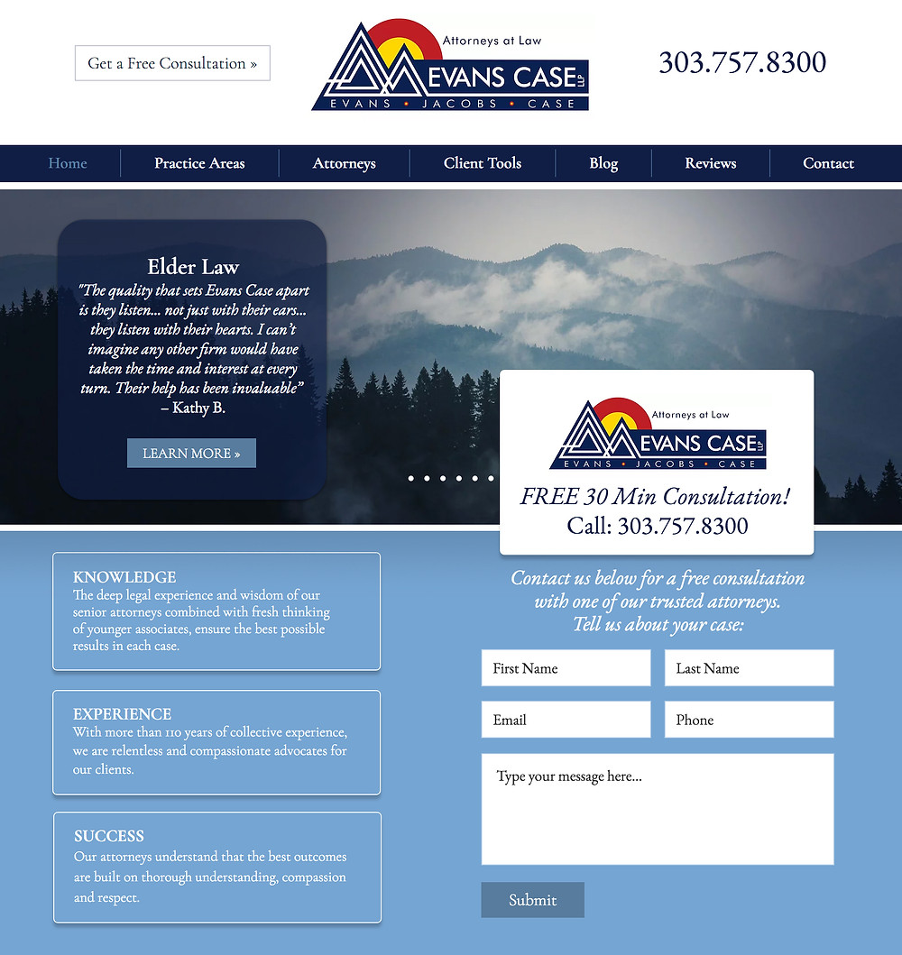Is Wix Good for Lawyer Websites? This is a Lawyer Website Design in Wix