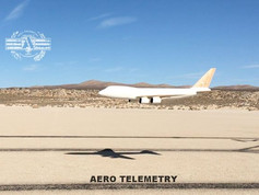 Aero Telemetry Air Force One 747 scale model on low pass during first flight test. Stable, Fast, Agile, Powerful. #RockSteady