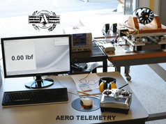 Computer controlled thrust stand for precise measurements of ducted fan performance at Aero Telemetry