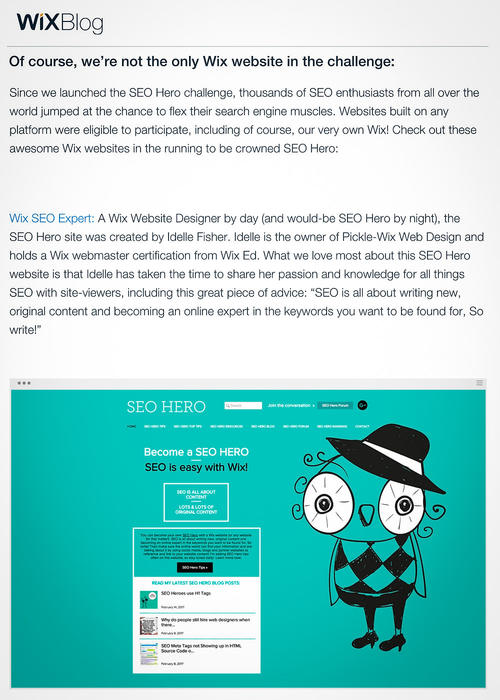 SEO Hero Winner