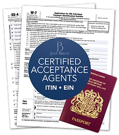 Certified Acceptance Agent ITIN Form W7