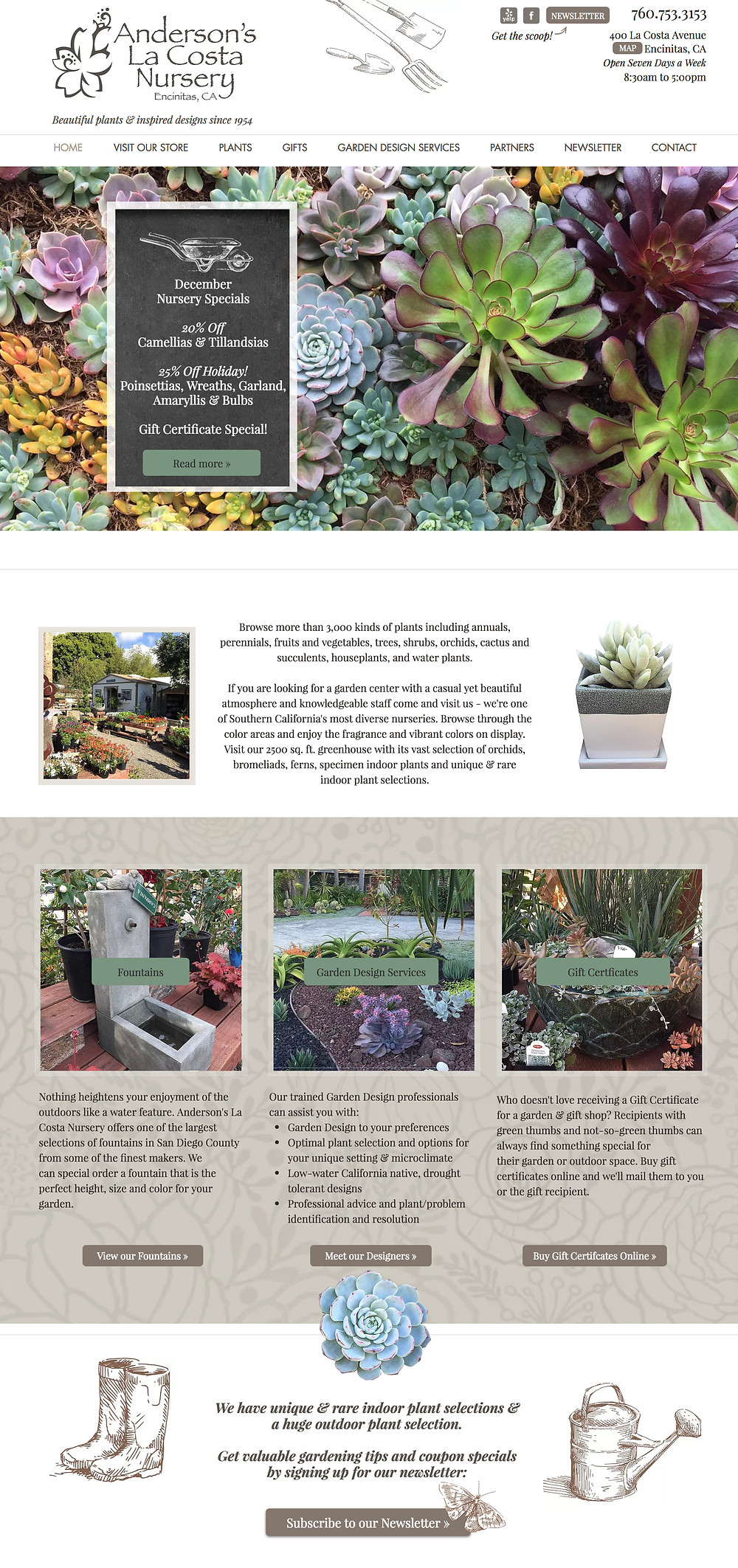 Wix Designer Portfolio - Website Design for Garden Nursery
