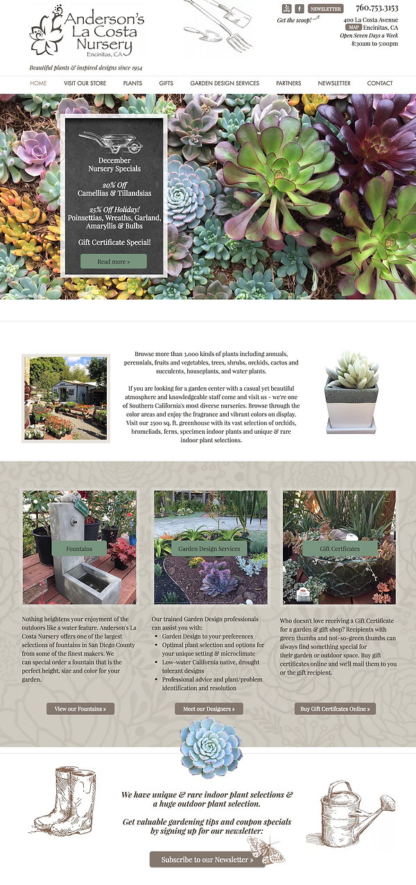 Best Wix Websites - Garden Nursery Website Design (Wix)
