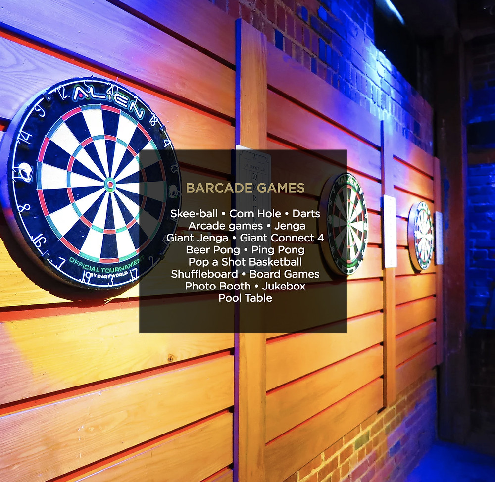 Downtown Denver Bar with Games and Arcades: Underground Social - Darts, Skeeball, Corn Hole, Arcade Games, Giant Jenga, Pop a Shot Basketball, Shuffleboard, Pool, Beer Pong