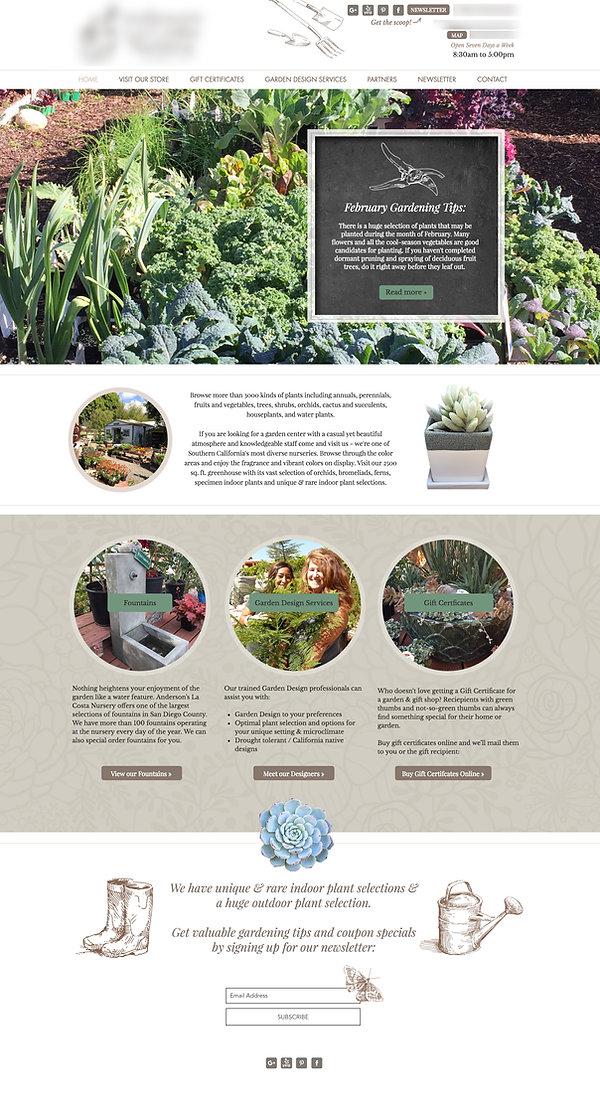 Wix Templates - Garden Nursery