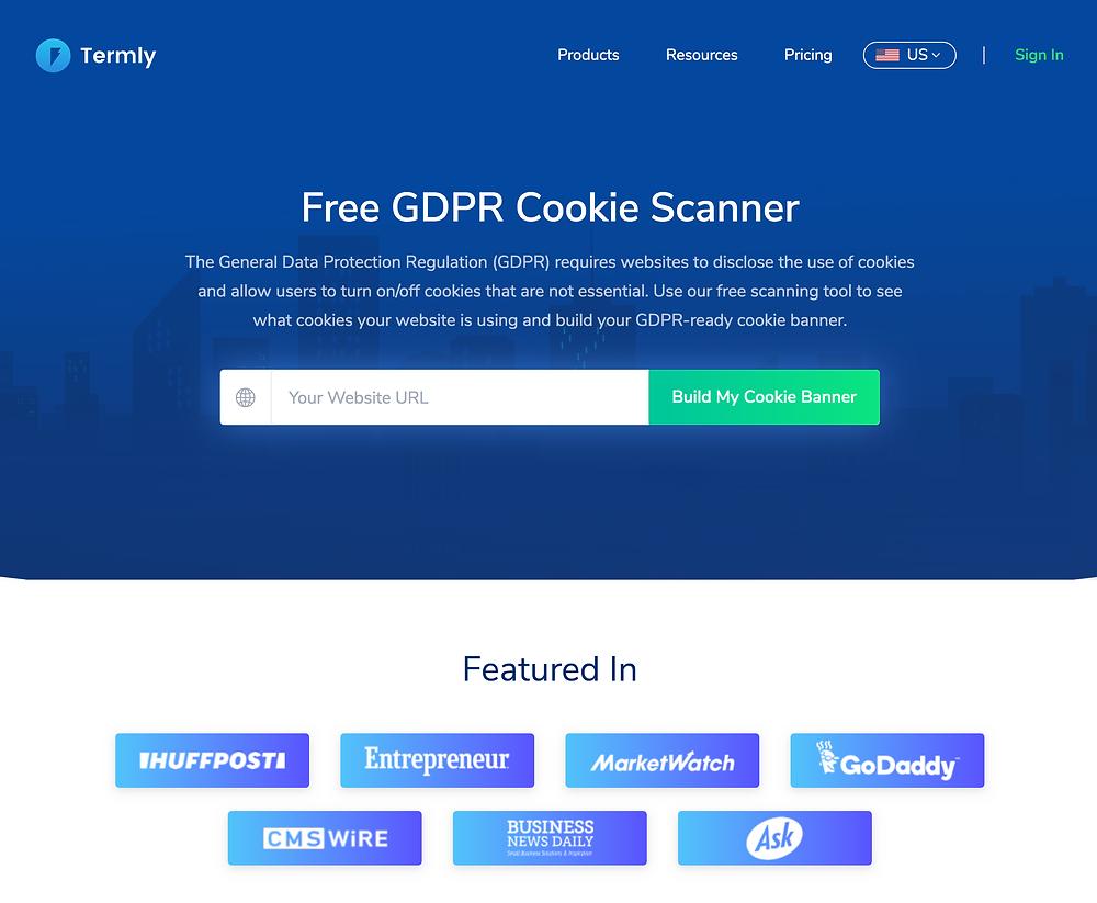 Free GDPR Cookie Scanner