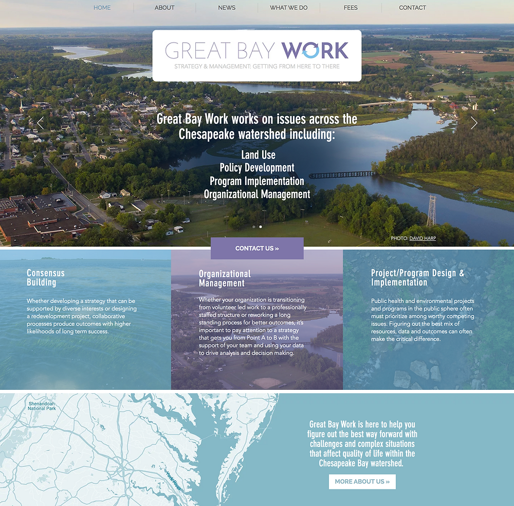 Great Bay Work Website Design