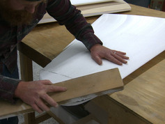 Shaping the horizontal stabilizer tip.
