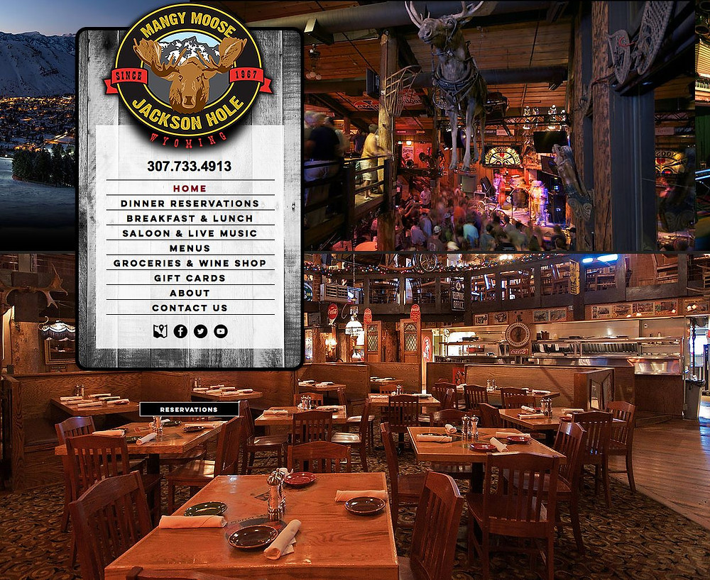 Restaurant Website Design Company for Wyoming Restaurant Mangy Moose