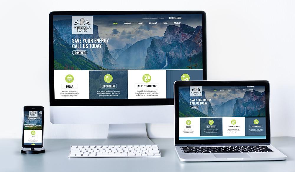 Solar Company Web Designer - Website Design for Sbrega Electric in California
