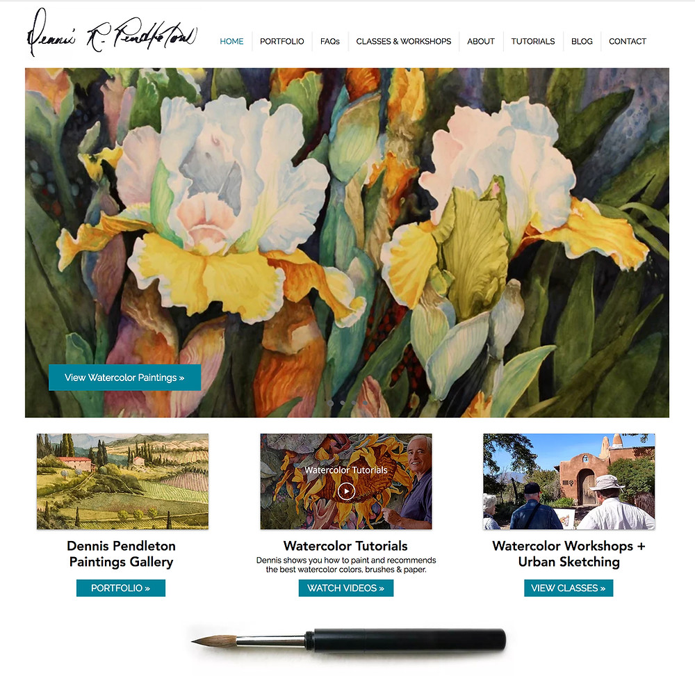 Wix Designer Portfolio - Website Design for Watercolor Artist & Illustrator
