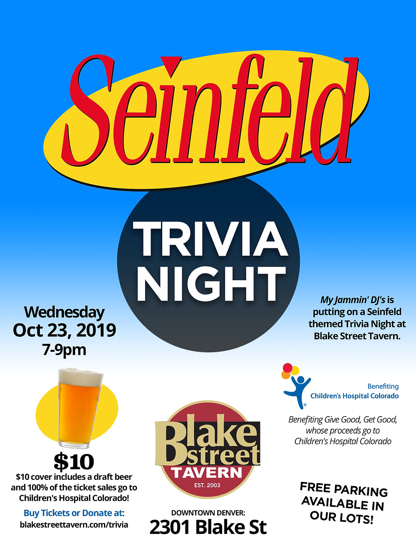 Seinfeld Trivia Night in Denver - Oct 2019