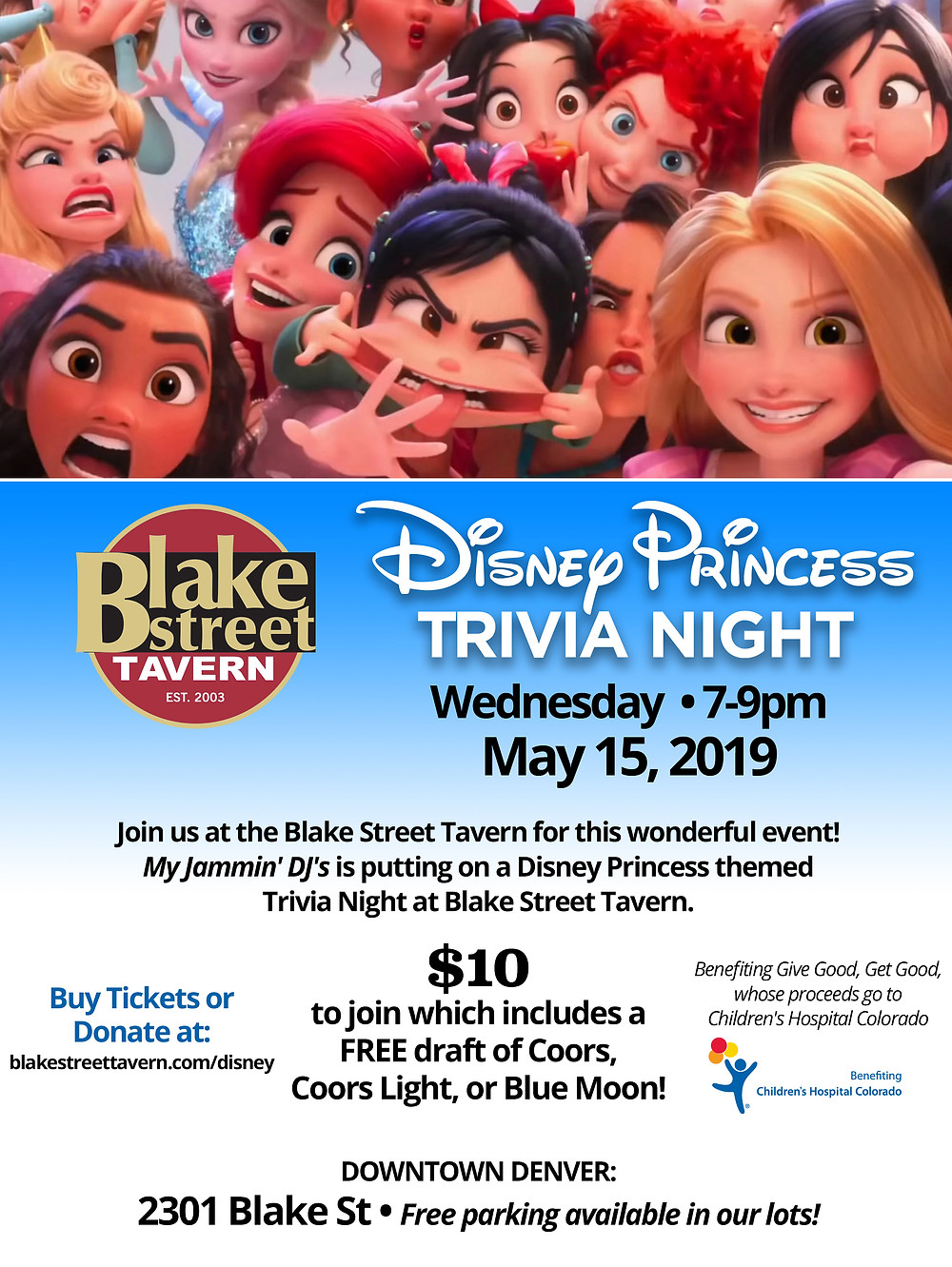 Disney Trivia in Denver at Blake Street Tavern