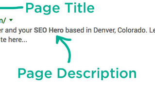 Be a SEO Hero & Accurately Summarize your Pages' Content