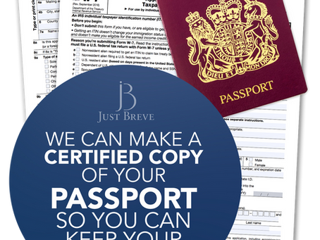 IRS Certified Acceptance Agent England