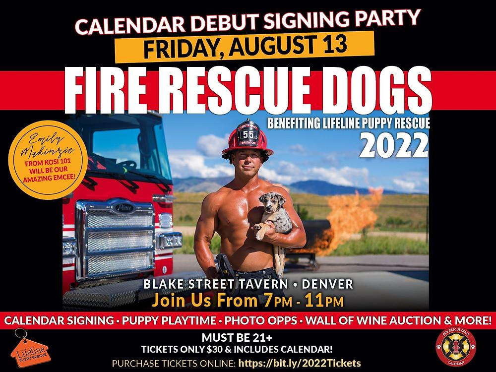 Denver Firefighters & Puppies Calendar Event