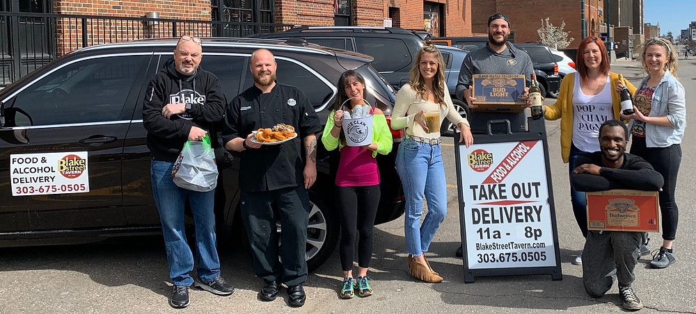 Denver Local Restaurant and Bar Team at Blake Street Tavern - Food Delivery