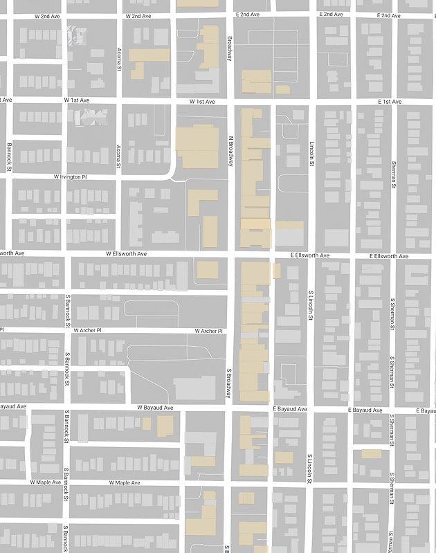 Denver Graphic Designer Tip: Clean Google Maps on denver maps by neighborhood, denver city street map, denver art museum map, denver on map,