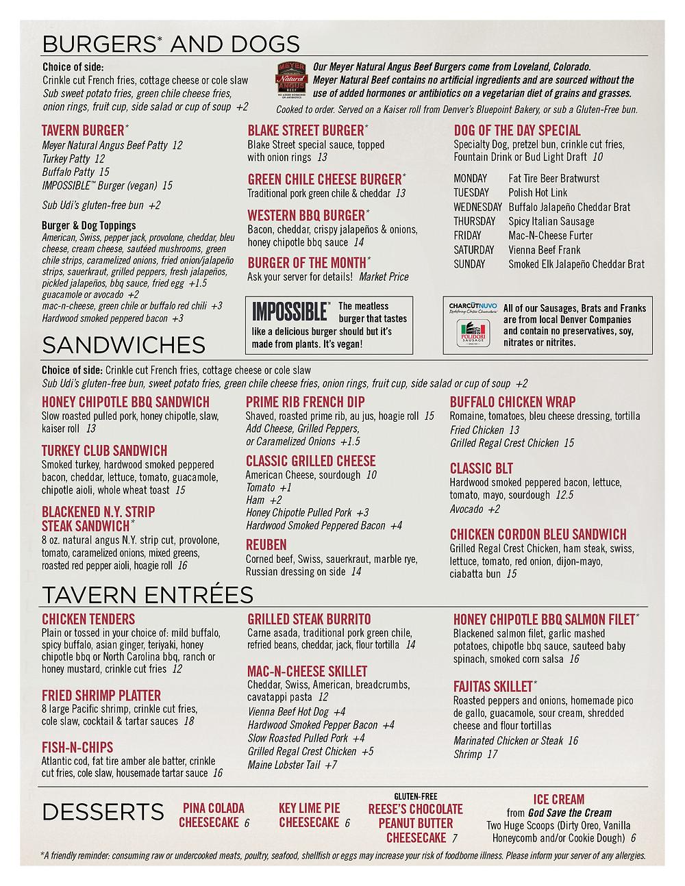 Gluten Free Restaurants - Downtown Denver Menu with Gluten-Free Options