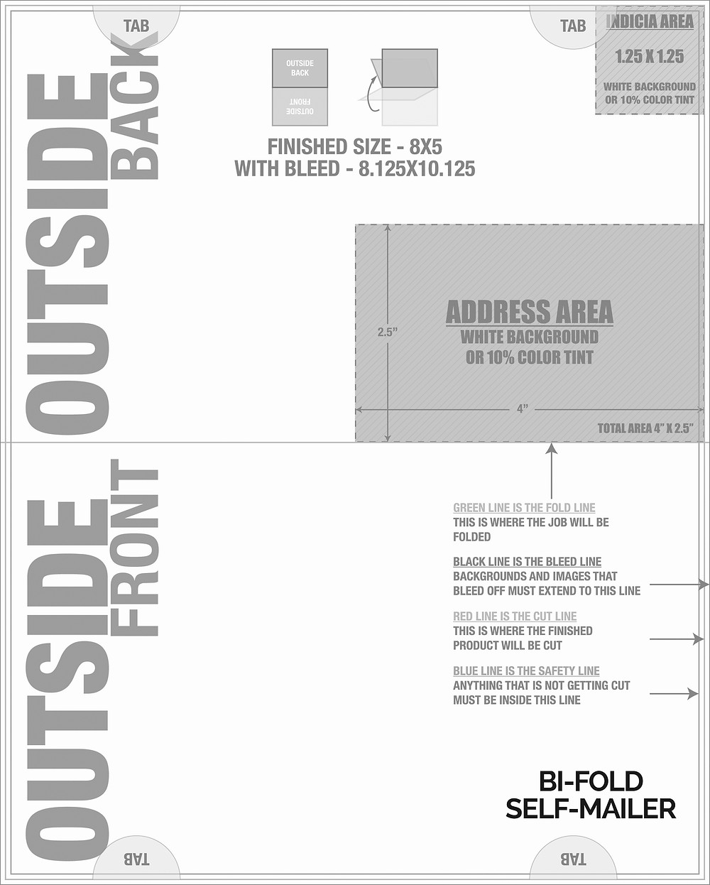 Bifold Self-Mailer with Mailing Panel for Graphic Designers
