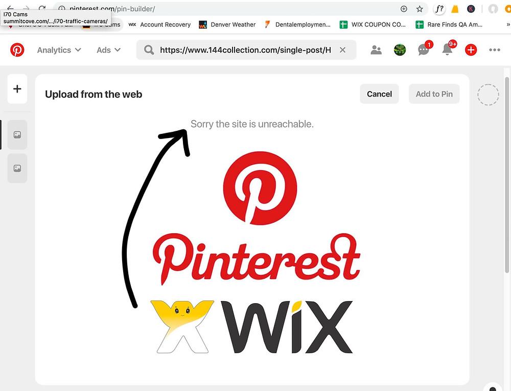Pinterest & Wix
