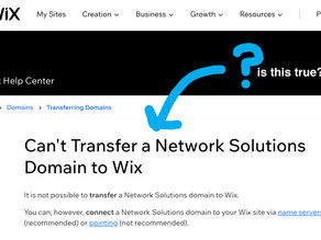 Transfer Domain from Network Solutions to Wix