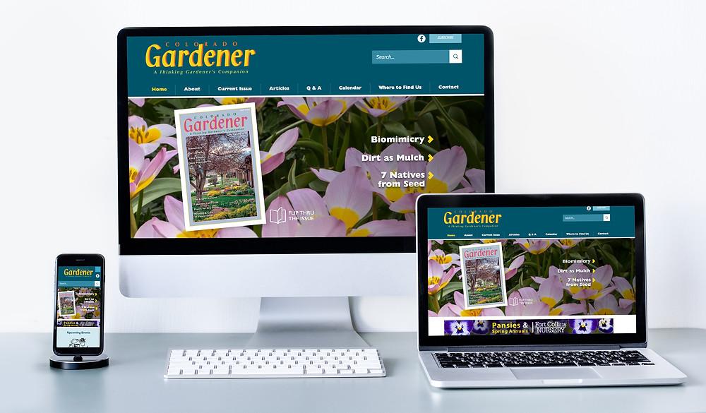 Flower Farm Website Designer - Gardening Magazine Website Design