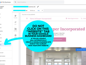 """Google Business Listing – Don't click on the """"Website"""" Tab!"""